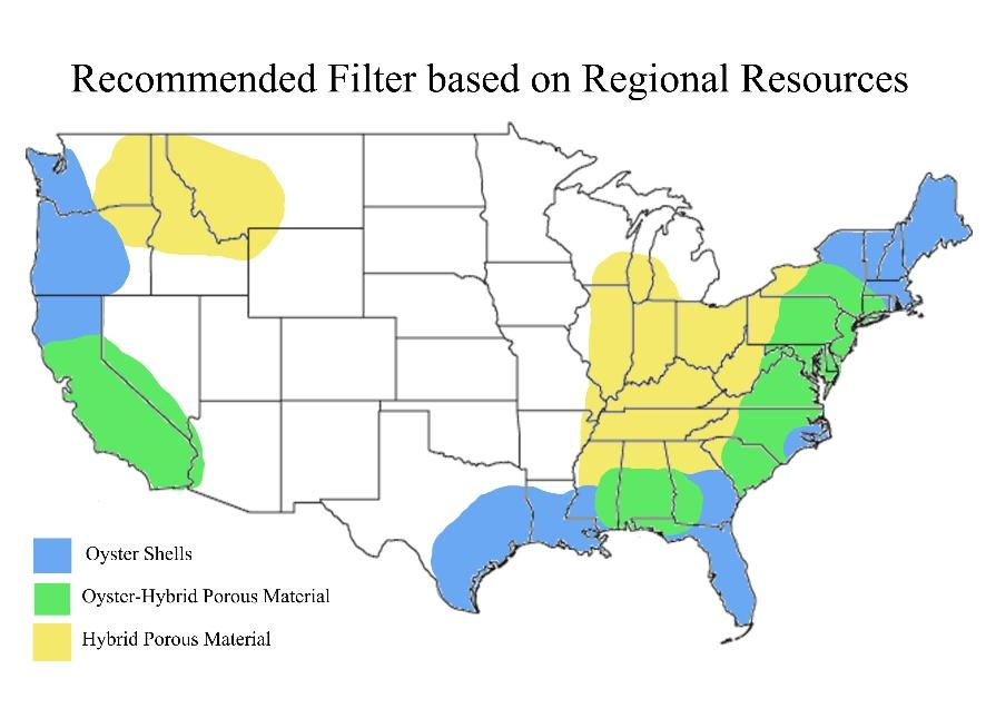 Sparling, Figure 21: Map depicting where each filter is recommended